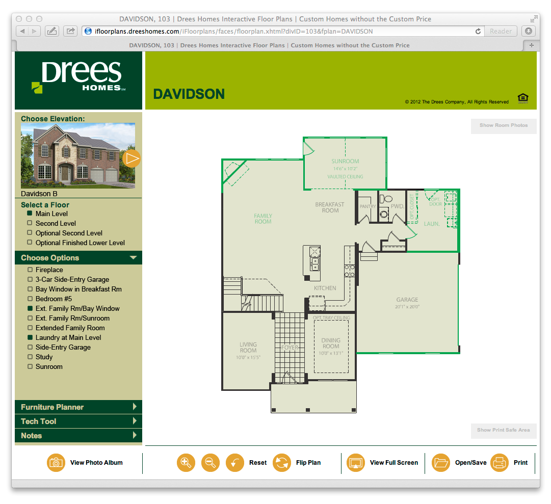 Interactive floor plans drees homes a custom home builder for Interactive home plans